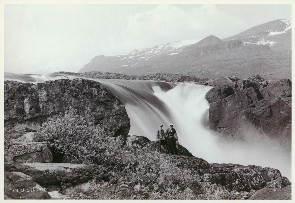 Stora Sjöfallet - Hermelins fall ca 1900