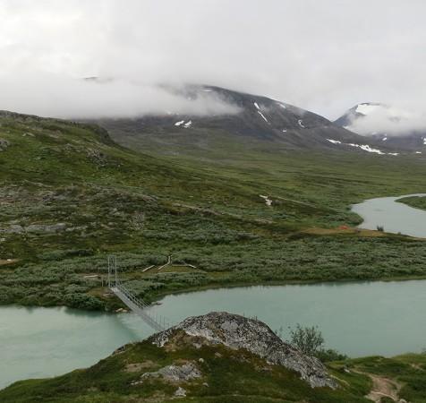 Utsikt från Alesjaure fjällstugor