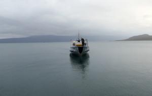 Passagerarbåt på Akkesjaure