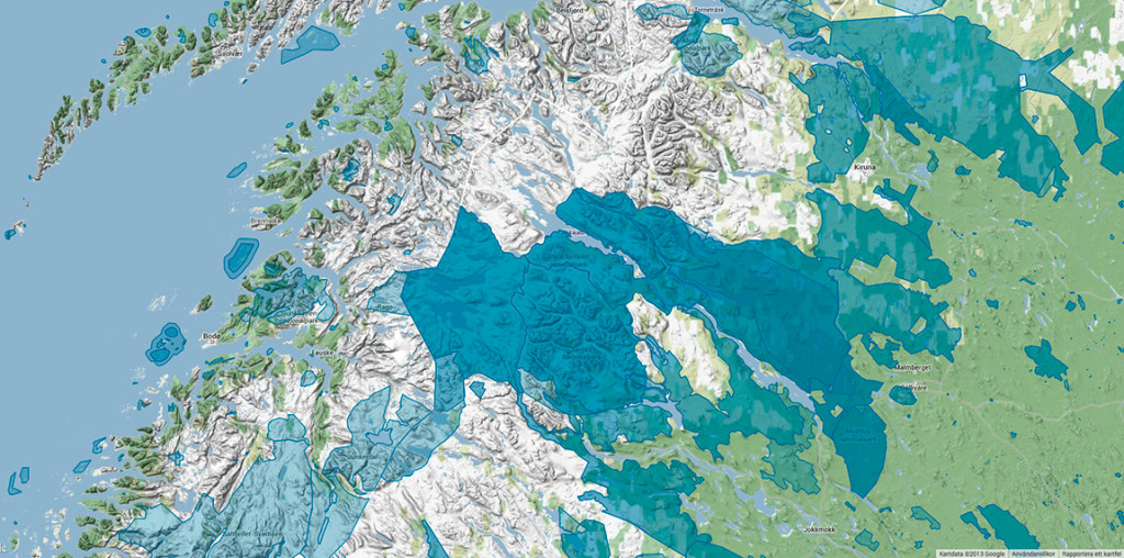 Nationalparkerna Sarek, Muddos och Stora Sjöfallet.