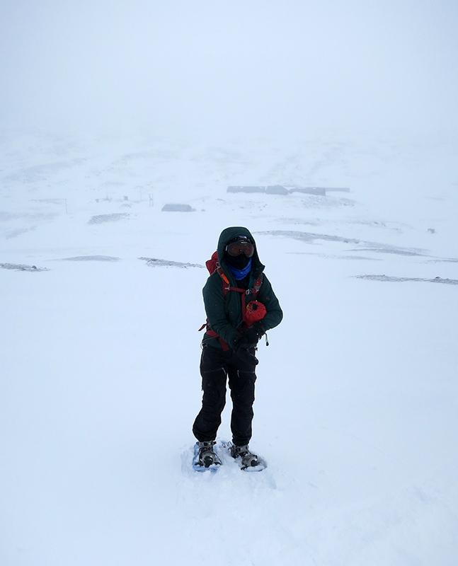 Mari på snöskor