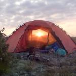 Hilleberg Staika i solnedgång