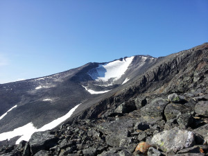 Vuohostjajkka toppen i Sarek