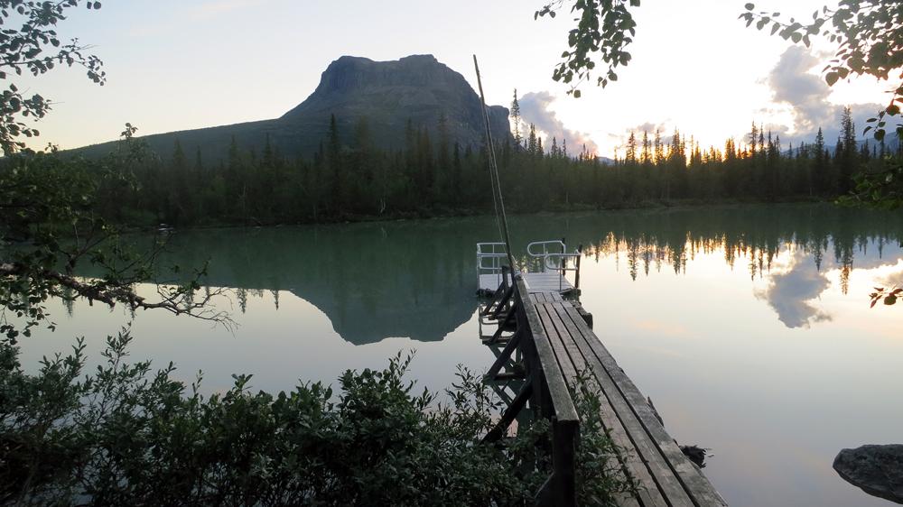 Båtplatsen vid sjön Láitaure