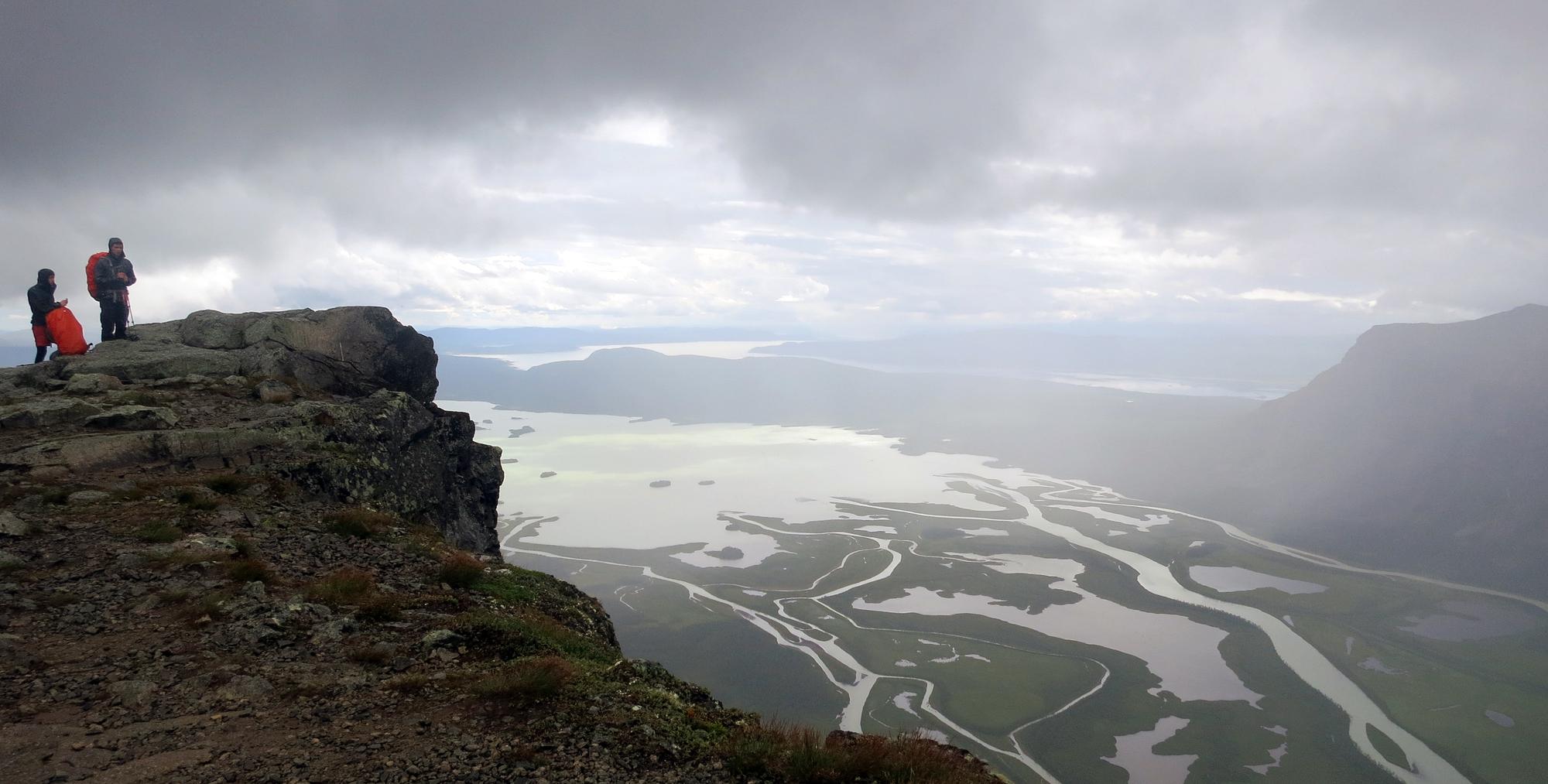 Utsikt från toppen Skierfe