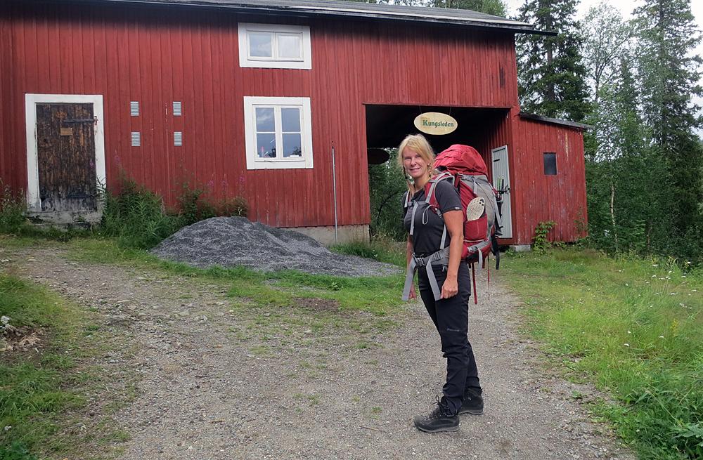 Annalena vid Kvikkjokk fjällstation