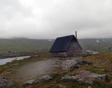 Raststugan vid Kårsåjaure, Nordkalottleden.