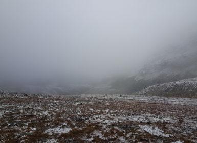 Dimman på Helags.