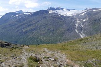 Galdhøpiggen och Styggebrean.