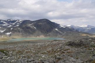 Sjön Leirtjönne 1651 m.o.h. vid Skautflye.