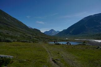 Utsikt mot Visdalen från Spiterstulens turisthytte.